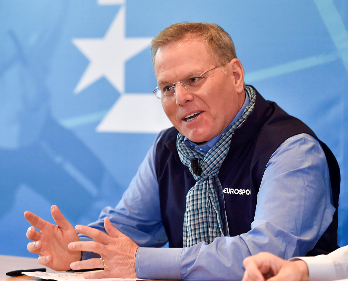 Discovery CEO David Zaslav, at the broadcaster's international media day